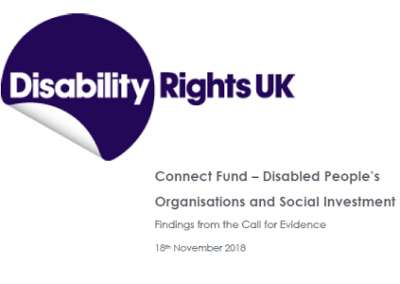 DR UK - Disabled People's Organisations and Social Investment