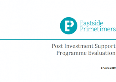 Eastside Primetimers - Post Investment Support Programme Evaluation